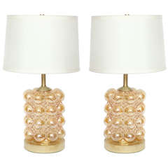 Helena Tynell Champagne Bubble Glass Lamps