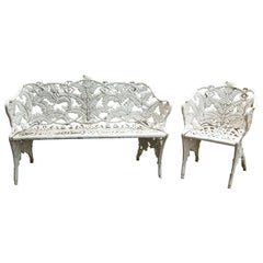 Set of Two Cast Iron Benches