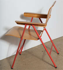 Set Of 4 Russell Wright Samson Folding Chairs At 1stdibs
