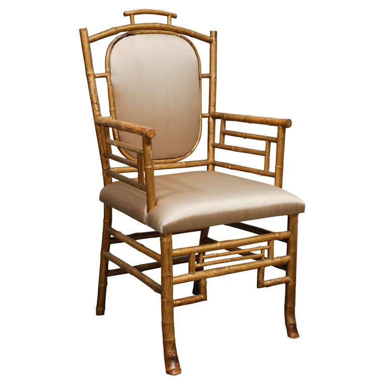 Bamboo Chair With Arms: Antique Bamboo Arm Chair At 1stdibs