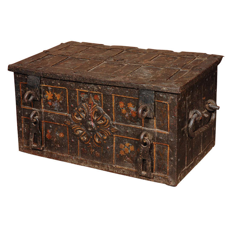 antique chest for sale Antique Iron Chest For Sale at 1stdibs antique chest for sale