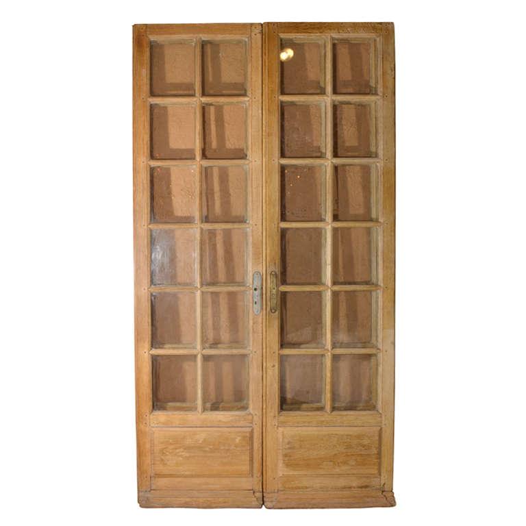 Two pair twelve light french doors at 1stdibs for 12 light door