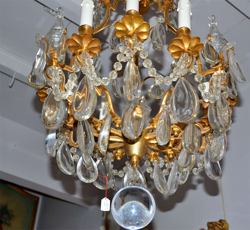 Bronze And Crystal Bagues Chandelier For Sale At 1stdibs