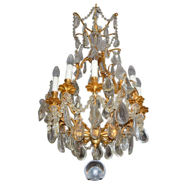Bronze And Crystal  Bagues Chandelier