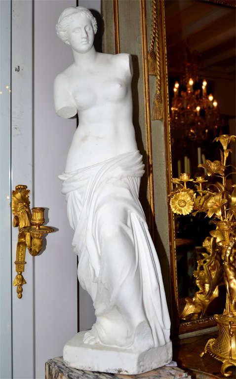 Statue In Carrare Marble Representing Venus De Milo For