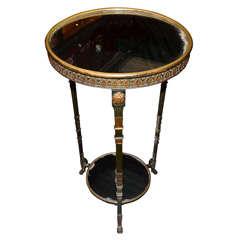 Rare Bronze & Mirror Empire  Gueridon