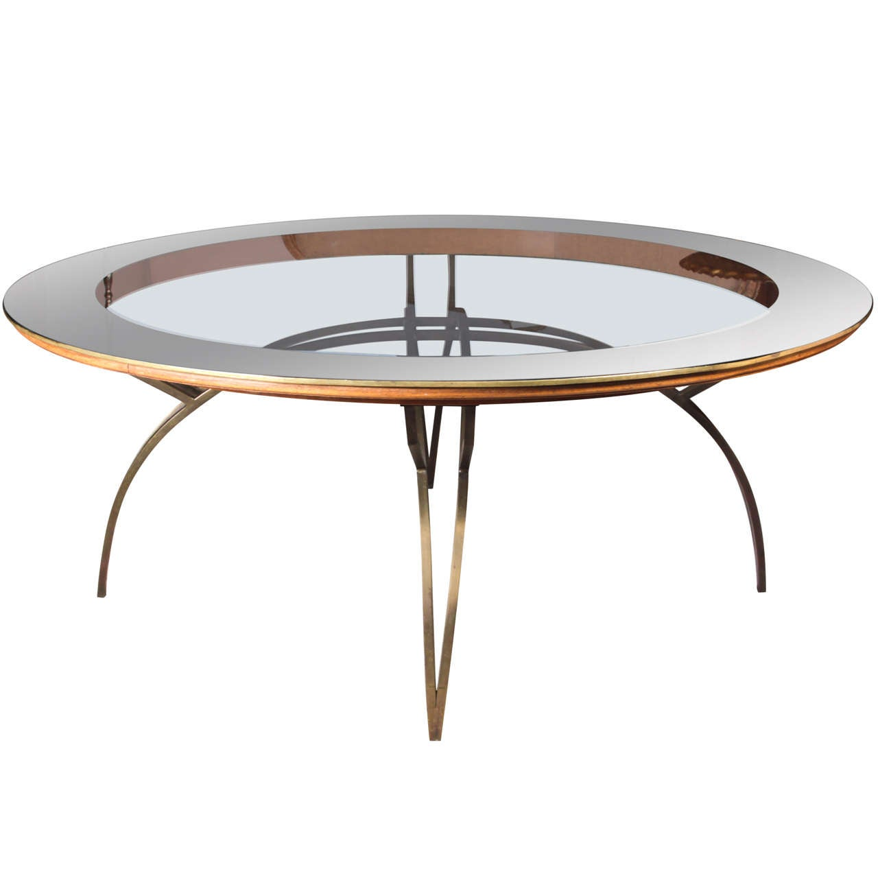 French 1950 39 S Round Coffee Table At 1stdibs