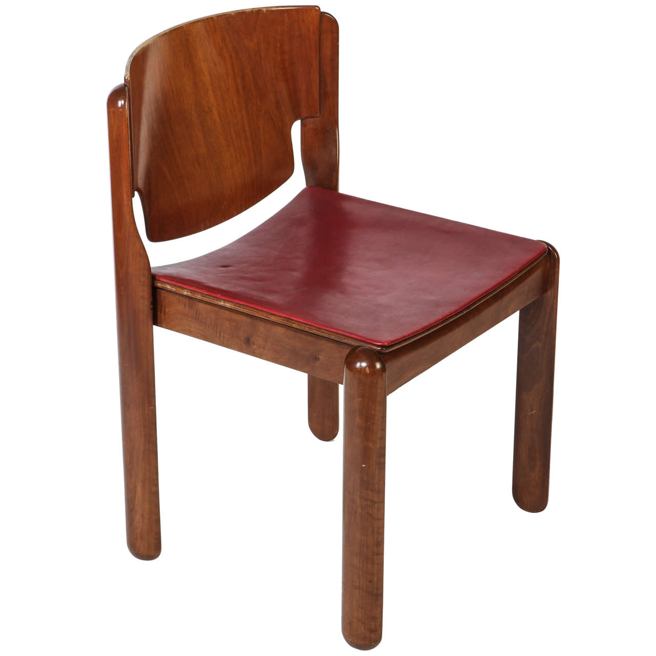 Luxury Leather Chairs chair model 122vico magistretti for sale at 1stdibs