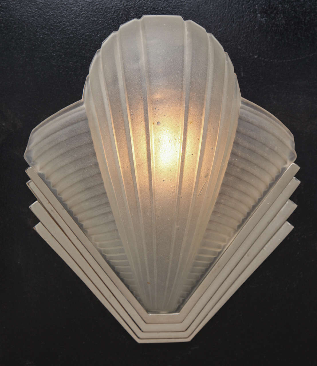 Wall Sconce Lighting Art Deco : Art Deco Pair of Wall Sconce