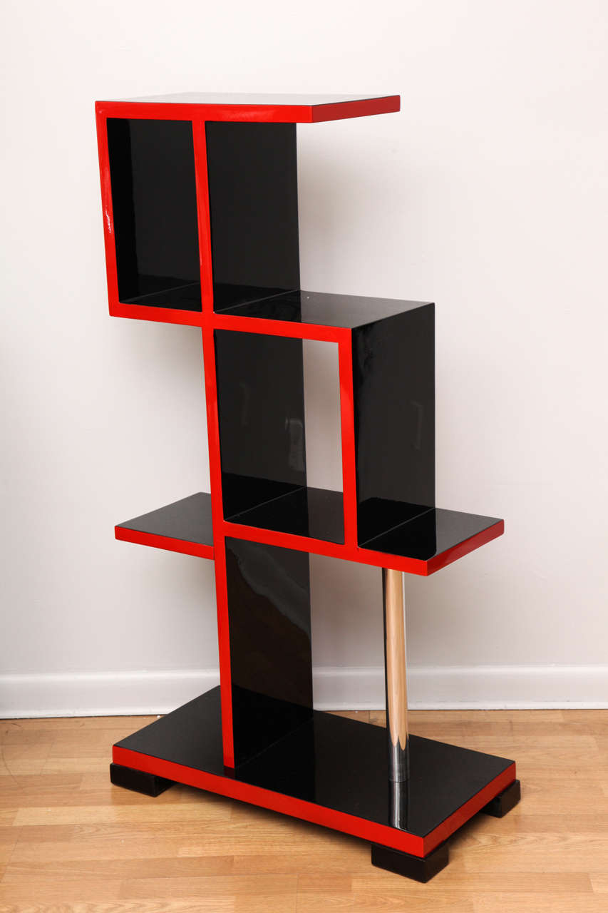 rare bauhaus etagere bookcase at 1stdibs. Black Bedroom Furniture Sets. Home Design Ideas