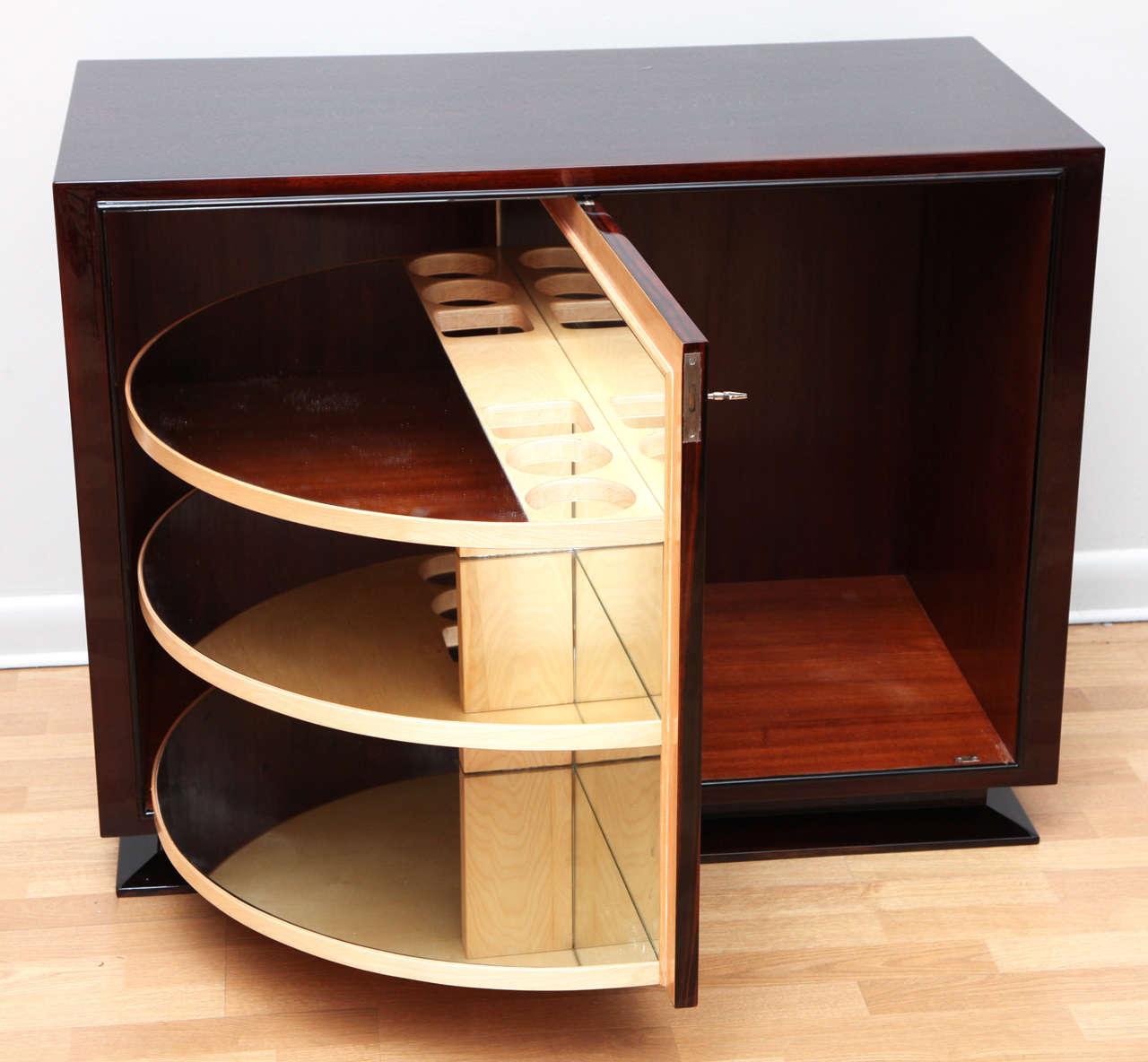 Spectacular art deco revolving bar cabinet image 5 for Art deco bar furniture