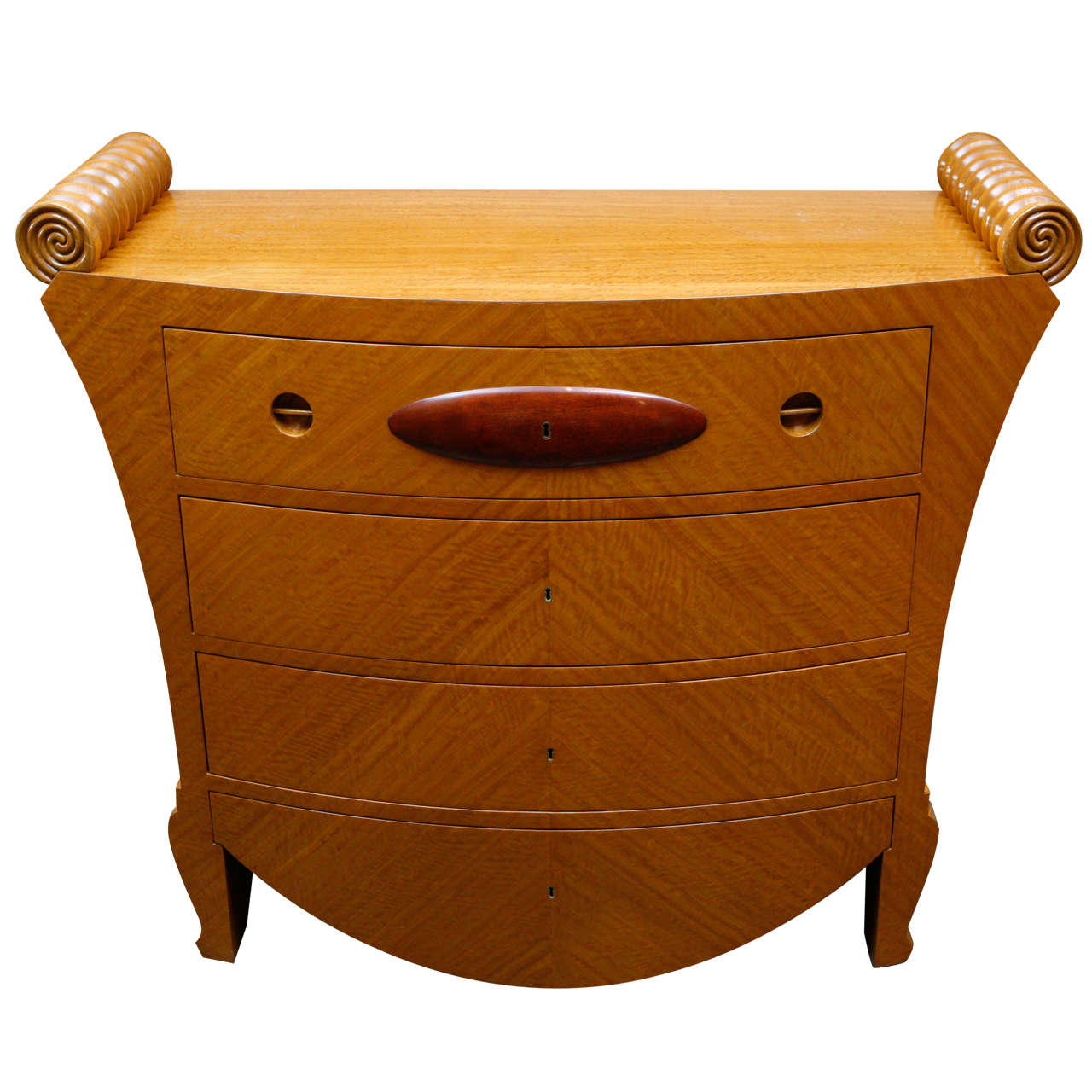 Satinwood Deco Chest of Drawers