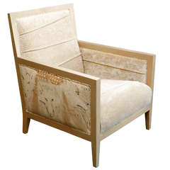 Hand Painted Lounge Chair by Veronese