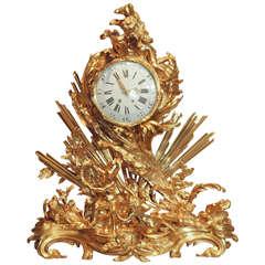 Antique French Museum Quality Bronze D'ore Monumental Mantel Clock