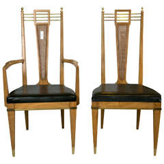 Set of Six Metz Custom Dining Chairs Mid-Century Modern.