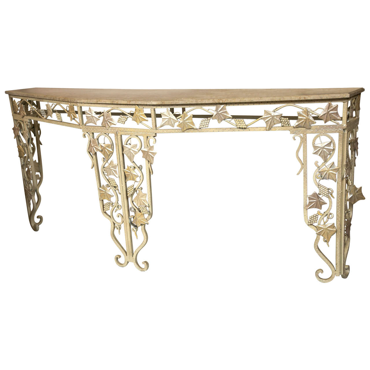 Art deco style marble top console table for sale at 1stdibs for Table 52 art smith