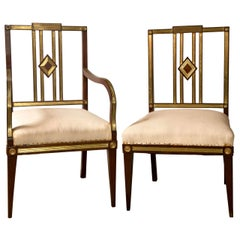 Set of Eleven 19th Century Russian Neoclassical Dining Chairs