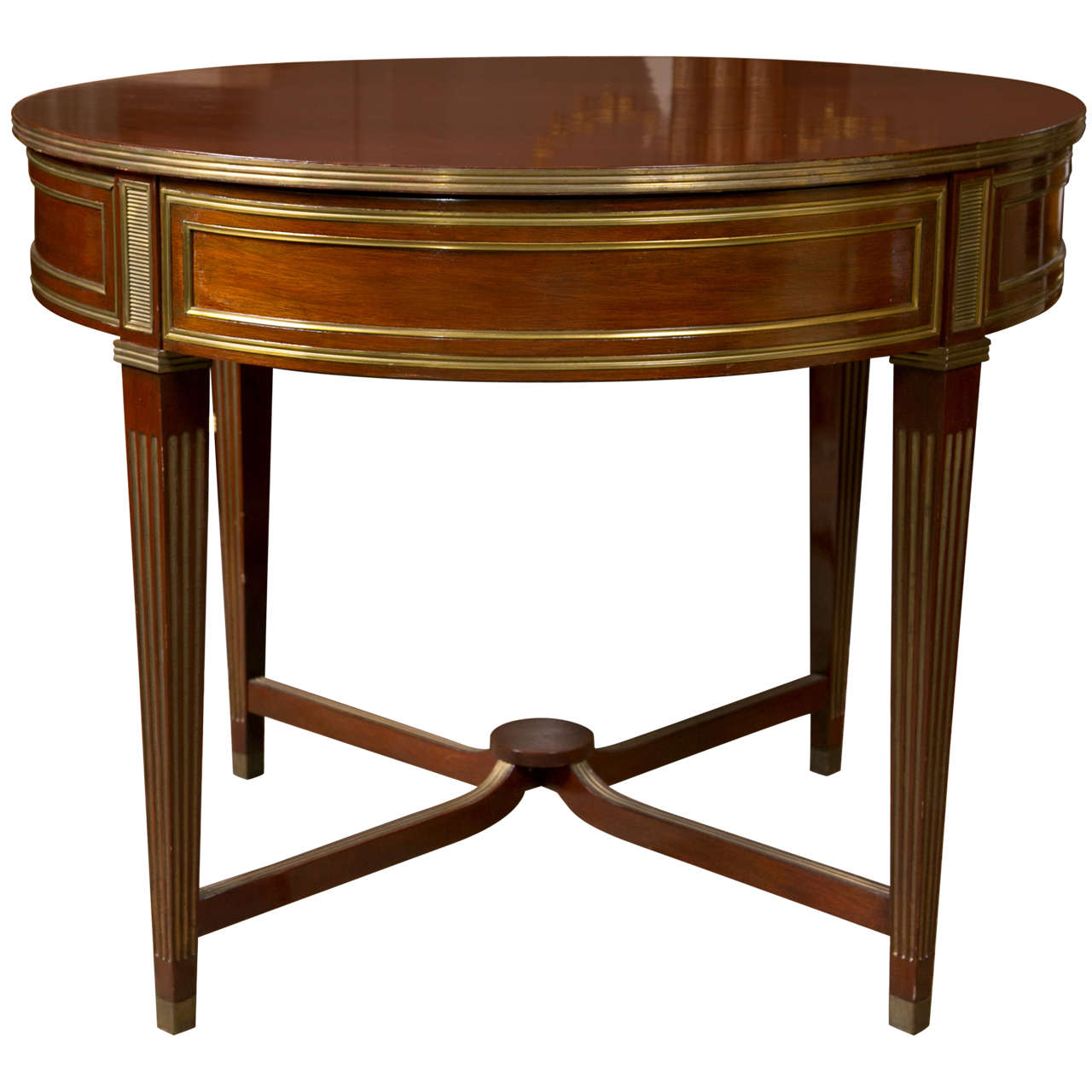 19th Century Russian Neoclassical Flame Mahogany Centre / Gueridon Table