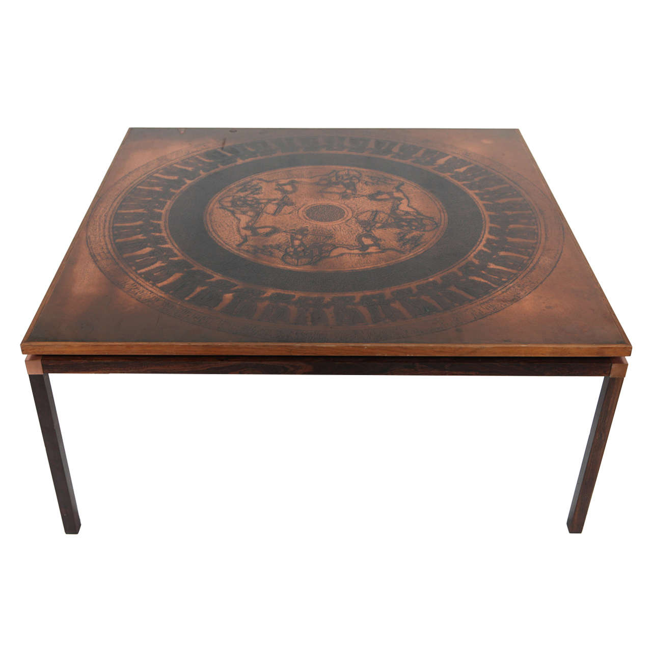 Copper Coffee Table Denmark C 1970 At 1stdibs