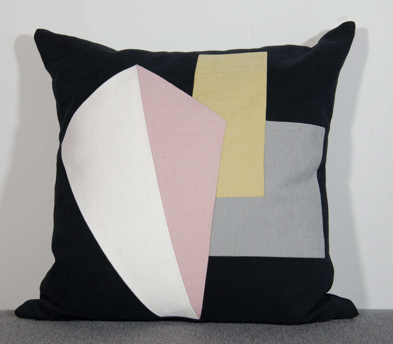 Mid-Century Inspired Architectural Pillow Black Collection by Arguello Casa For Sale at 1stdibs