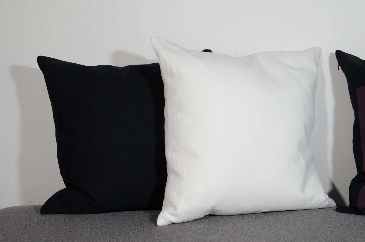 Architectural Italian Linen Throw Pillows by Arguello Casa For Sale 1