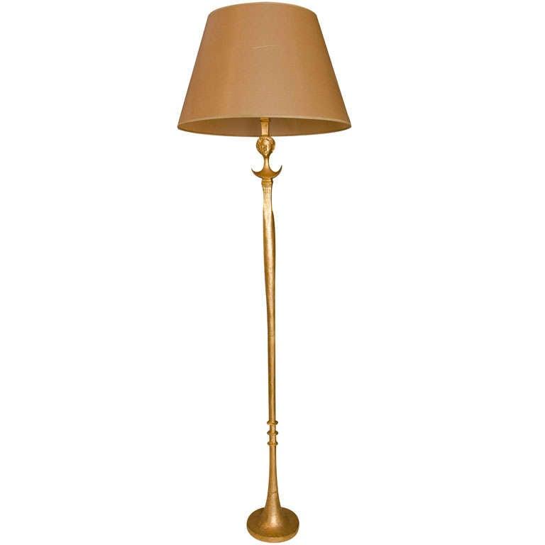 Alberto Giacometti cast-bronze Tete de Femme floor lamp, 1978