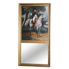 19th Century Napoleon Trumeau Mirror