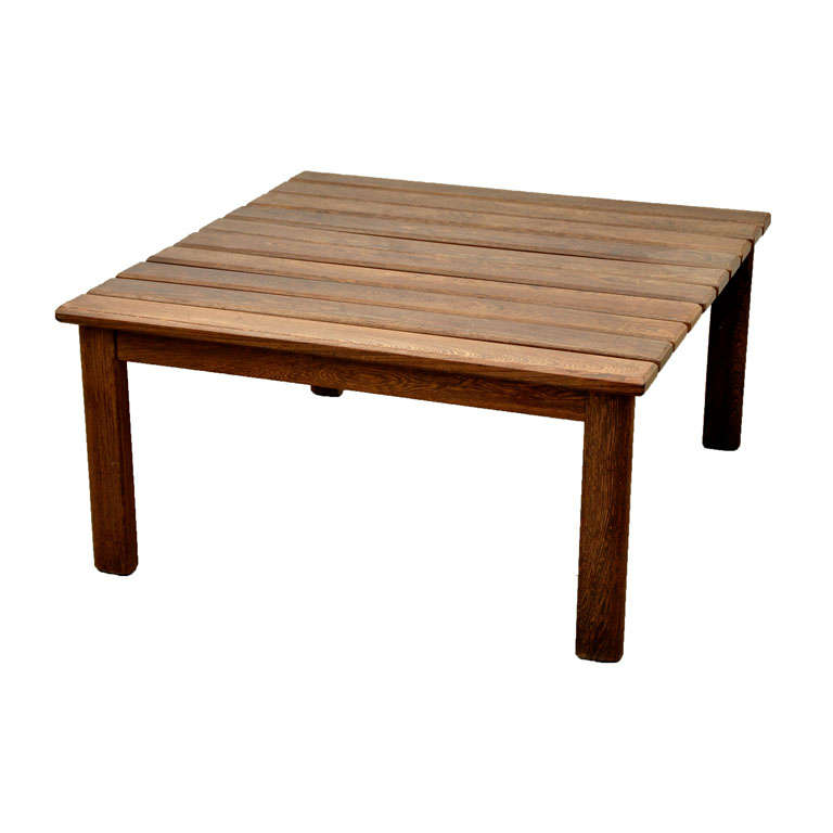 Teak Slatted Coffee Table At 1stdibs