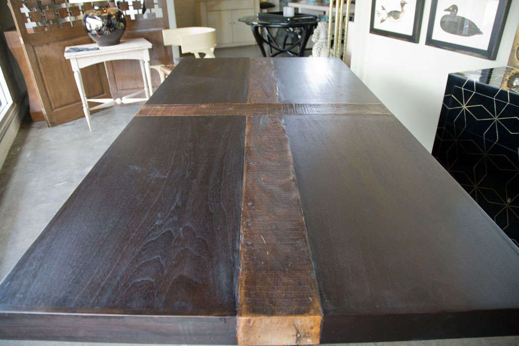modern rustic wood dining table at 1stdibs