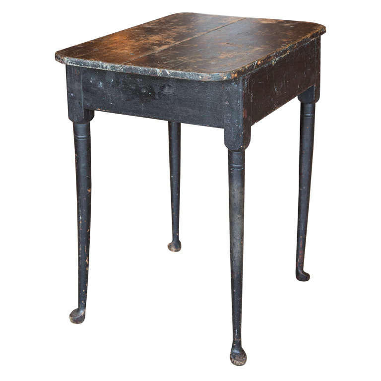 Early American Side Table , Maine 18th C At 1stdibs
