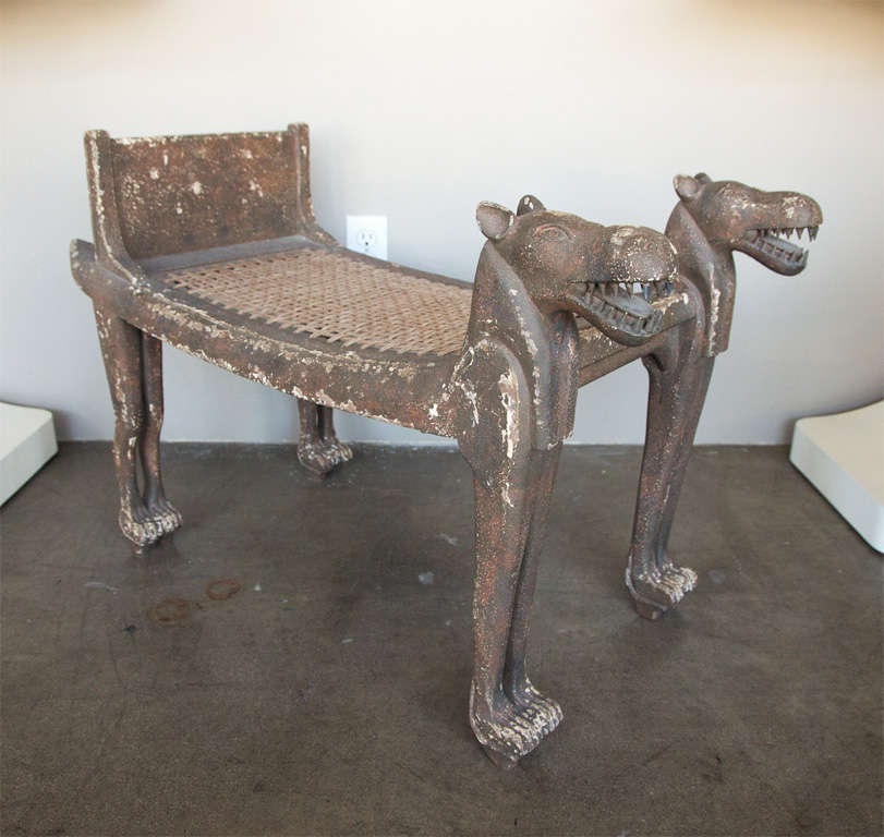 Enjoyable Egyptian Revival Bench At 1Stdibs Short Links Chair Design For Home Short Linksinfo