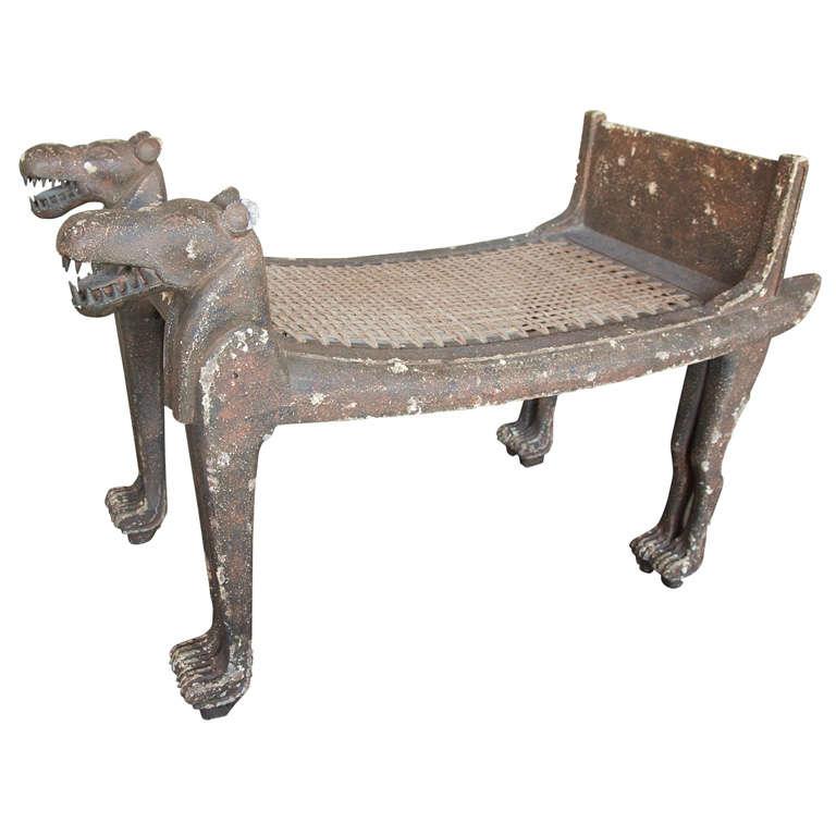Swell Egyptian Revival Bench Bei 1Stdibs Short Links Chair Design For Home Short Linksinfo