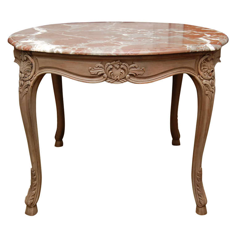 Marble topped louis xv style table for sale at 1stdibs - Table de chevet louis xv ...
