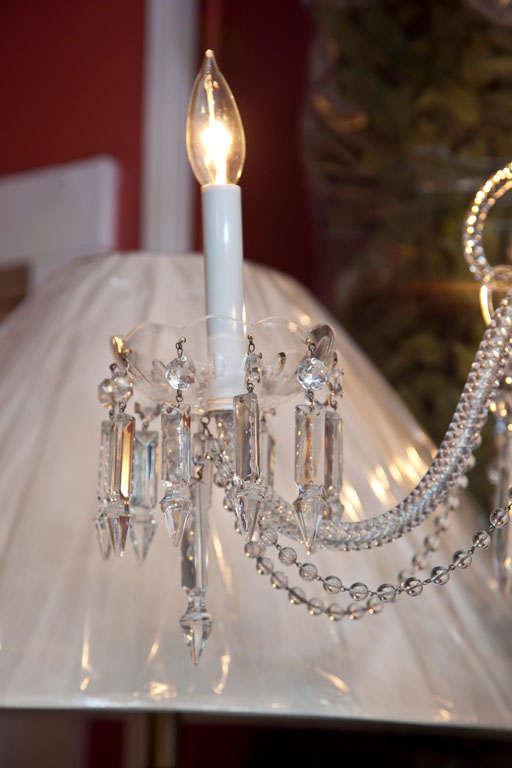 Italian Venetian Glass and Crystal Four-Light Chandelier For Sale