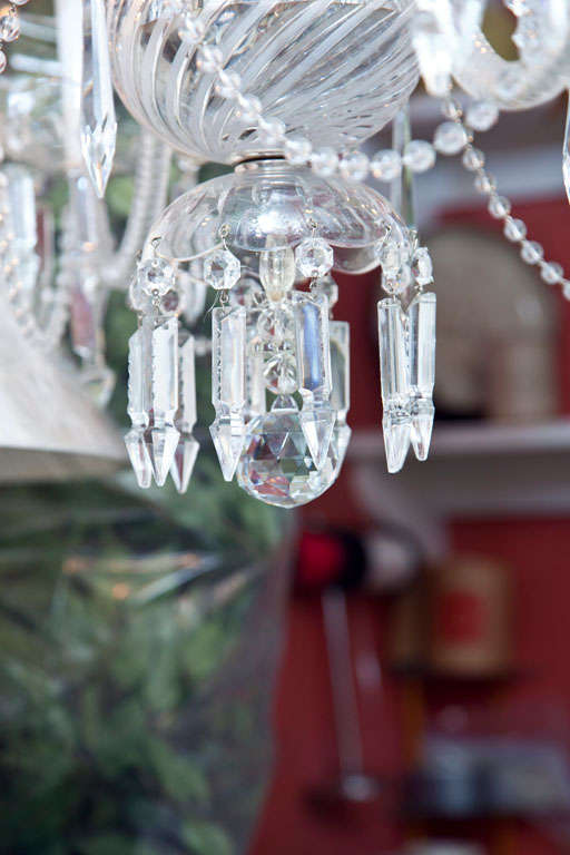 Venetian Glass and Crystal Four-Light Chandelier In Excellent Condition For Sale In Mt Kisco, NY