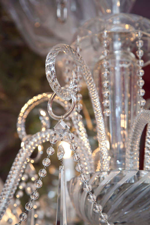 Venetian Glass and Crystal Four-Light Chandelier For Sale 1