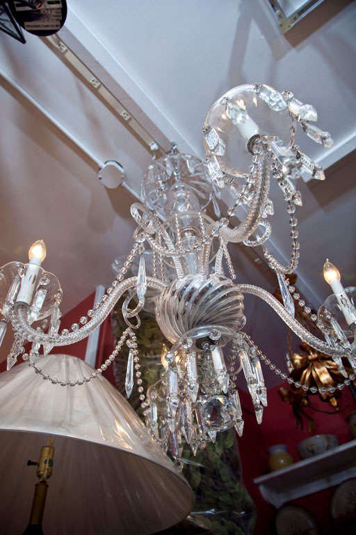 Venetian Glass and Crystal Four-Light Chandelier For Sale 2