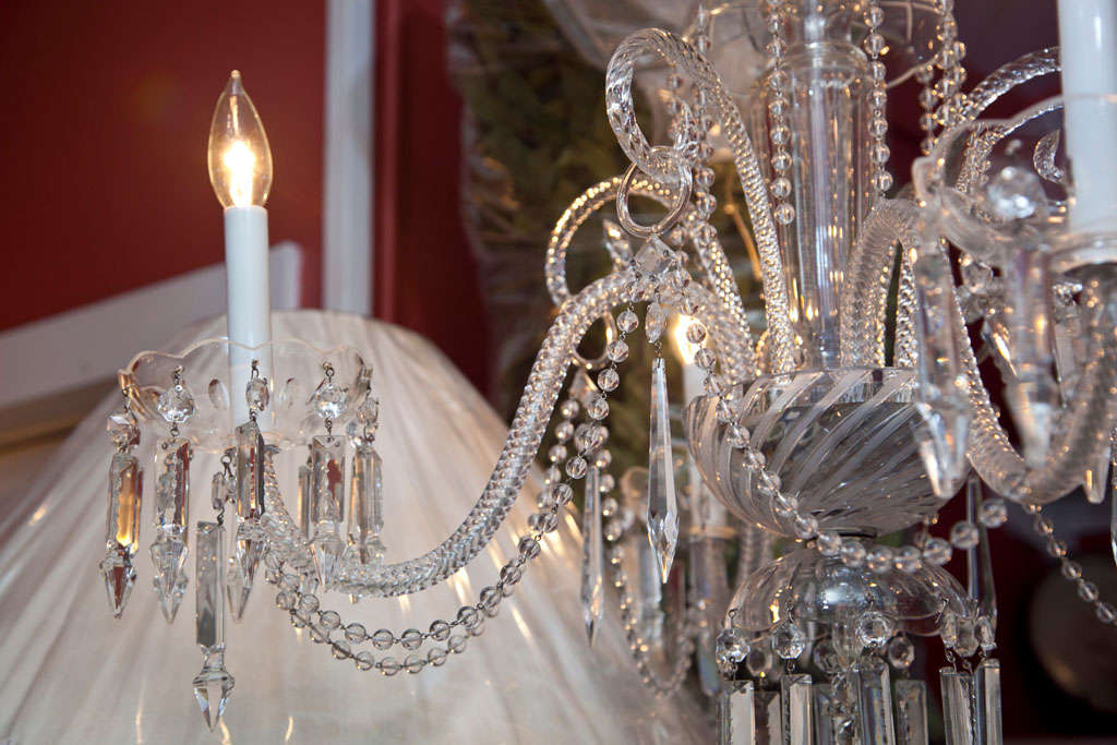 Venetian Glass and Crystal Four-Light Chandelier For Sale 3