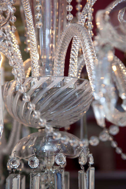 Venetian Glass and Crystal Four-Light Chandelier For Sale 5