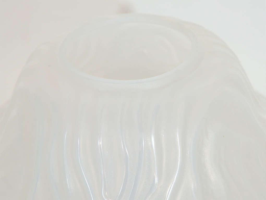 Gorgeous French Art Deco Frosted Glass Vase by Hunnebelle For Sale 1