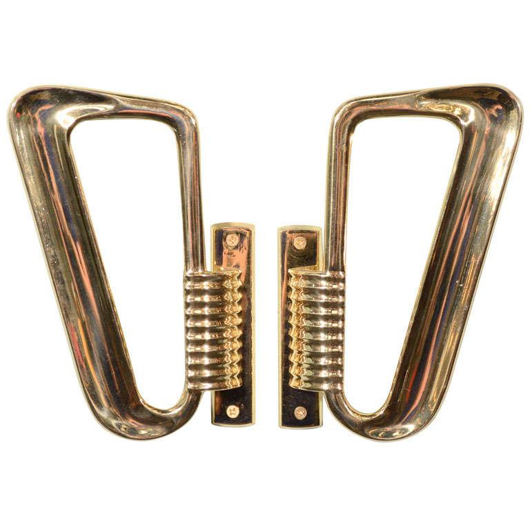Italian 1930 39 s large door handles at 1stdibs for 1930s brass door handles