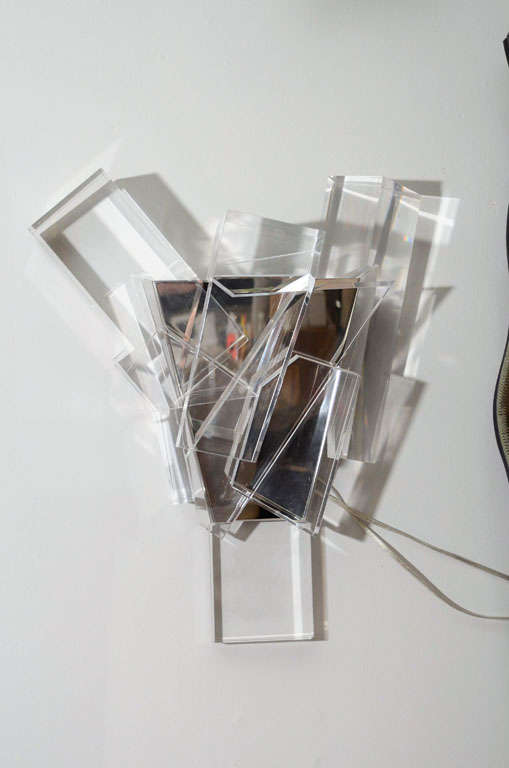 American Acrylic Block Sconces For Sale