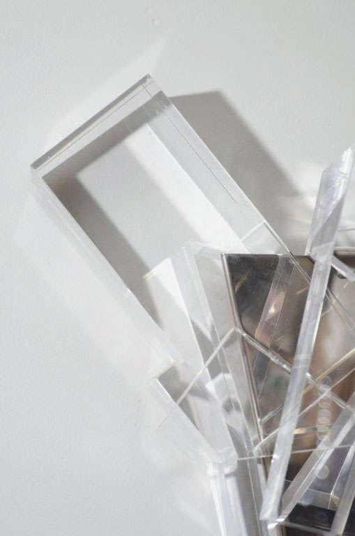 Contemporary Acrylic Block Sconces For Sale