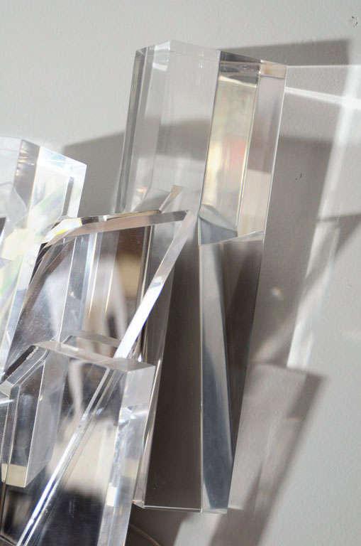 Acrylic Block Sconces For Sale 2