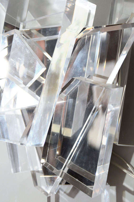 Acrylic Block Sconces For Sale 3