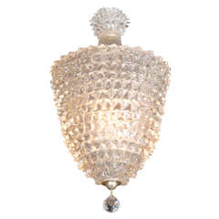 Chandelier by Barovier Toso, Italy circa 1950's