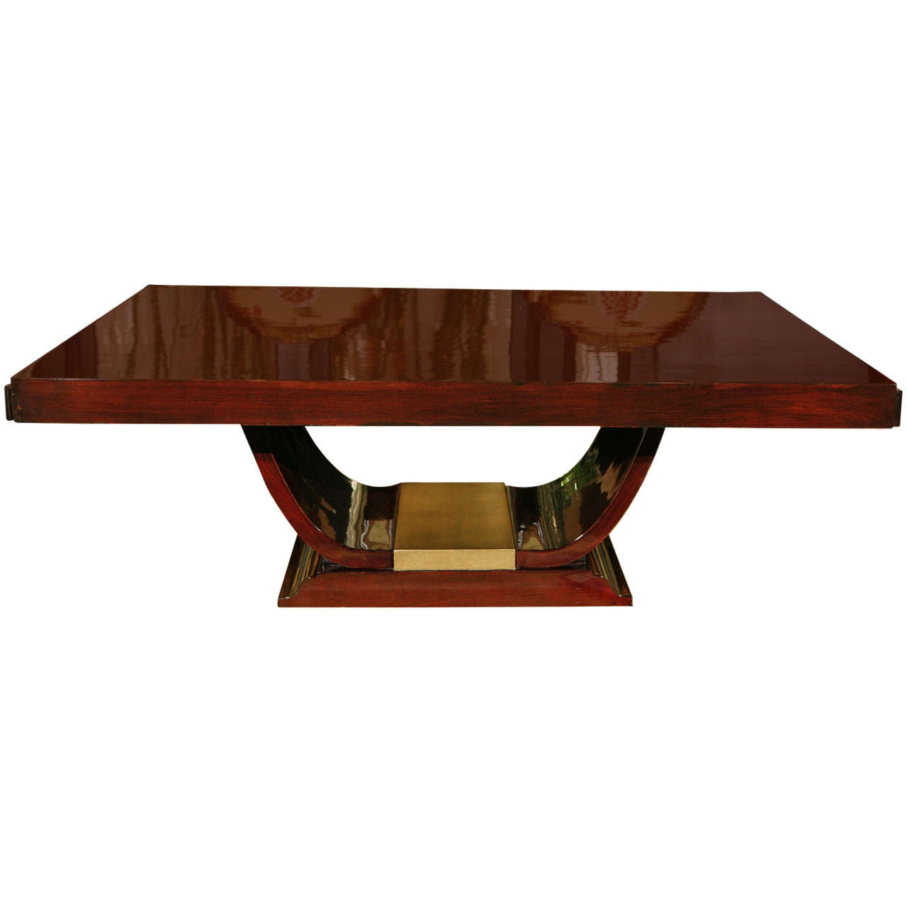 Art Deco Coffee Table With Gold Leaf Base At 1stdibs