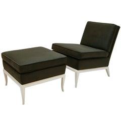 Slipper Chair and Ottoman by T.H. Robsjohn-Gibbings