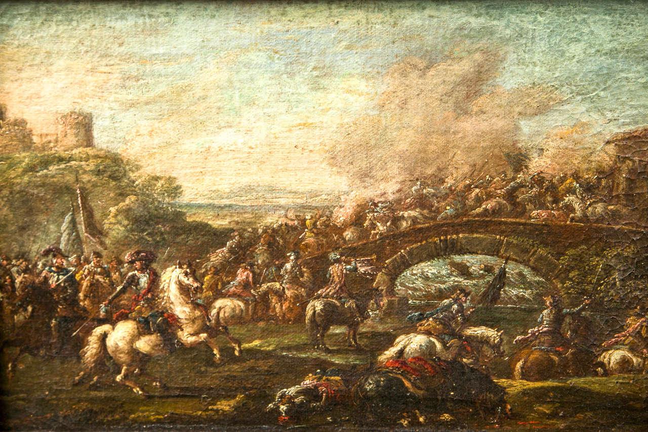 17th Century Francesco Graziani, Italian Oil on Canvas