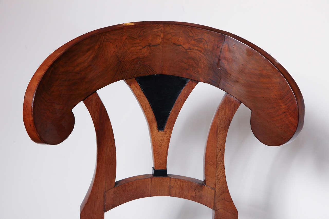 Early 19th Century Biedermeier, Walnut Side Chair For Sale 1